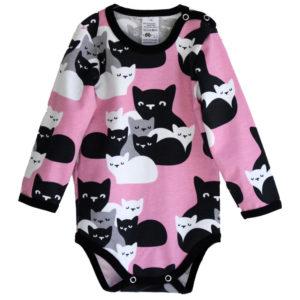 Baby Body Kittens von Paapii, Pink, Biobaumwolle