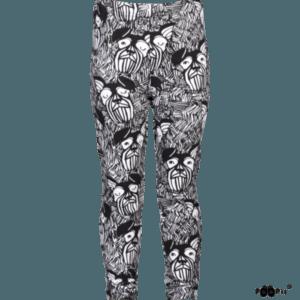 Kinder Hippa Leggings, Farbe Schwarz weiss, Marke Paapii, Biobaumwolle, nachhaltig hergestellt