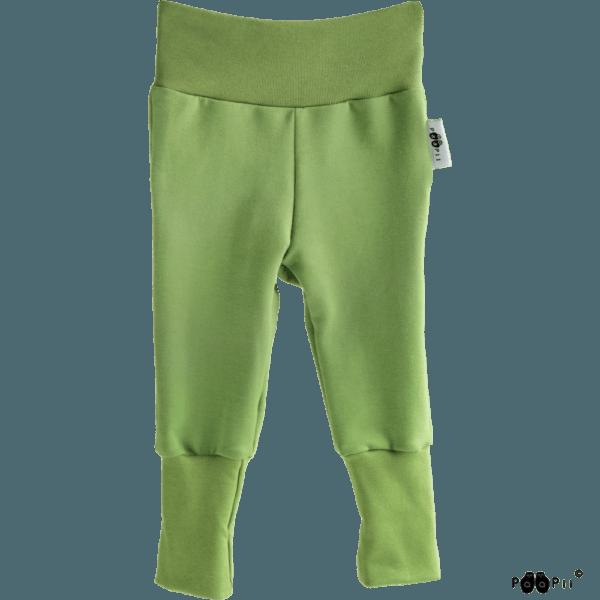 Baby Sweatpants Hosen Sisu, Farbe grün, Marke Paapii, Biobaumwolle, nachhaltig hergestellt