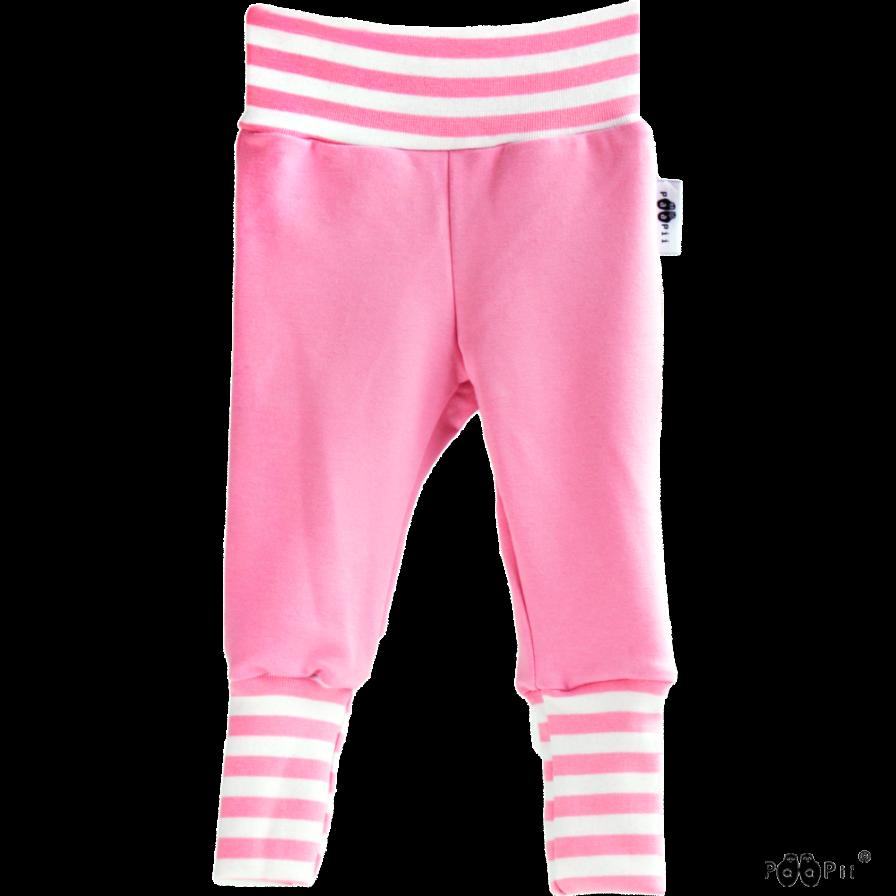 Baby Sweatpants Hosen Sisu, Farbe pink weiss, Marke Paapii, Biobaumwolle, nachhaltig hergestellt