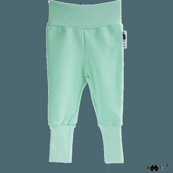 Baby Sweatpants Hosen Sisu, Farbe hellgrün mint, Marke Paapii, Biobaumwolle, nachhaltig hergestellt