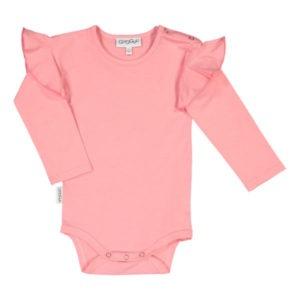 Baby Body Frilla, Farbe pink, Marke Gugguu, nachhaltig hergestellt
