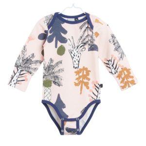 Hidden Forest Body für Babys aus Biobaumwolle, Marke Papu, nachhaltig hergestellt