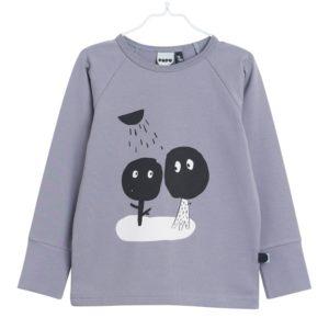 Lanharmshirt für Kinder aus Biobaumwolle, Farbe Grau, Marke Papu, nachhaltig hergestellt