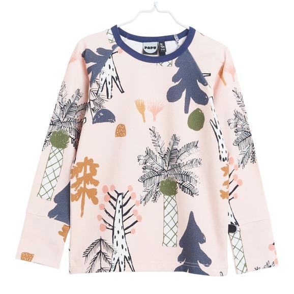 Hidden Forest Langarmshirt für Mädchen aus Biobaumwolle, Marke Papu, nachhaltig hergestellt