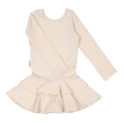 Mädchen Kleid Frilla, Farbe schneeweiss, Marke Gugguu, nachhaltig hergestellt