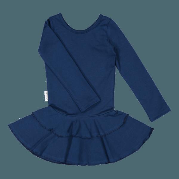 Mädchen Kleid Frilla, Farbe dunkelblau, Marke Gugguu, nachhaltig hergestellt