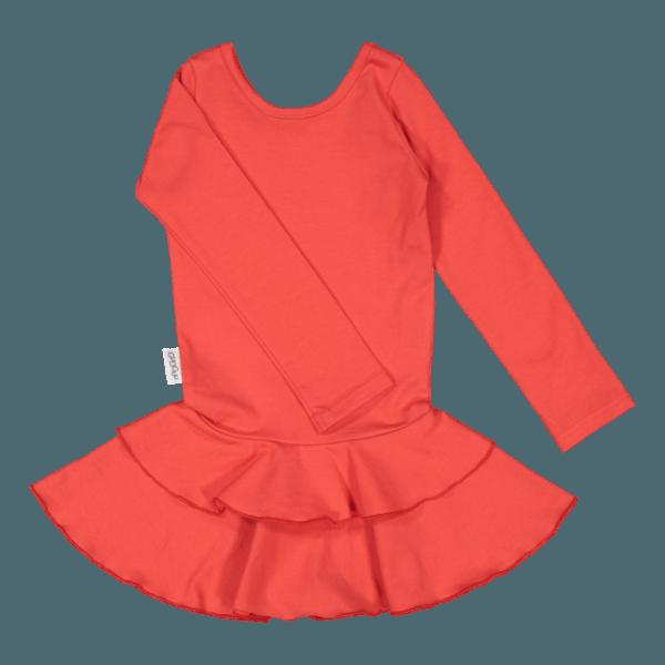 Mädchen Kleid Frilla, Farbe rot, Marke Gugguu, nachhaltig hergestellt