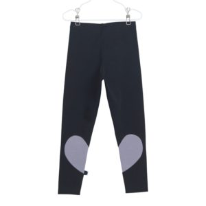 Leggings Heart für Kinder, Farbe Schwarz Grau, Marke Papu, Biobaumwolle, nachhaltig hergestellt