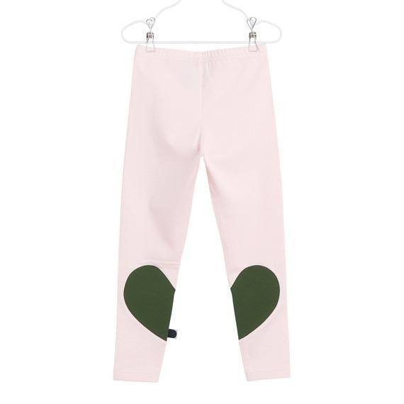 Leggings Heart für Kinder aus Biobaumwolle, Farbe Rosarot, Marke Papu, nachhaltig hergestellt