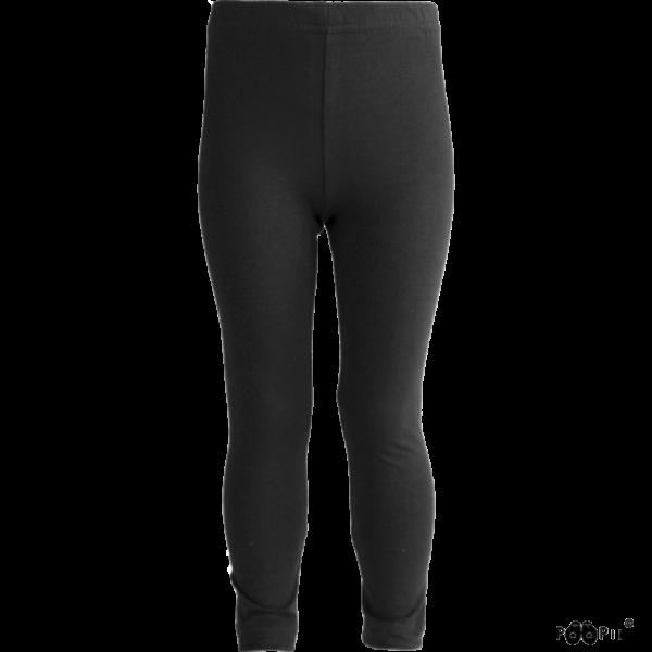 Kinder Hippa Leggings Farbe Schwarz, Marke Paapii, Biobaumwolle, nachhaltig hergestellt