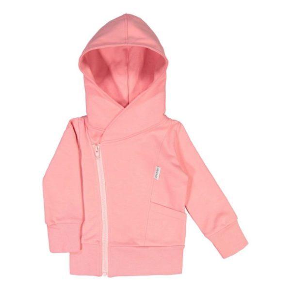 Kinder College Hoodie, Farbe pink, Marke Gugguu, nachhaltig hergestellt