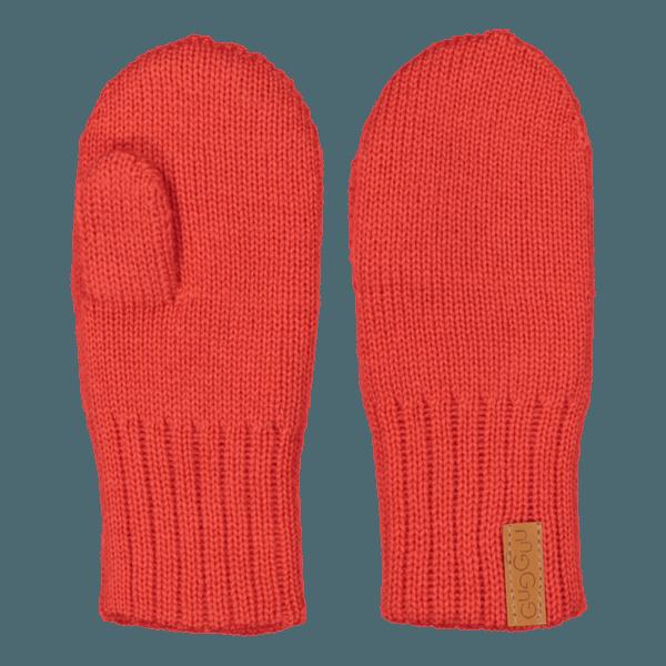 Gestrickte Kinder Fausthandschuhe, Farbe rot, Marke Gugguu, nachhaltig hergestellt
