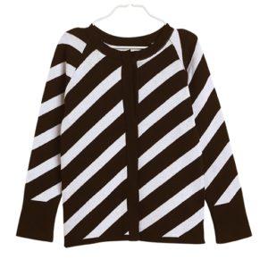 Gestrickte Stripe Gardigan für Kinder aus Biobaumwolle, Marke Papu, nachhaltig hergestellt