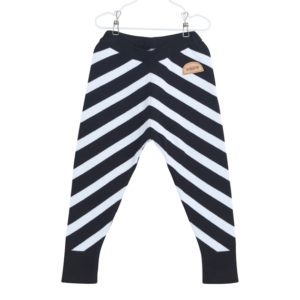 Gestrickte Stripe Hose für Kinder aus Biobaumwolle, Marke Papu, nachhaltig hergestellt