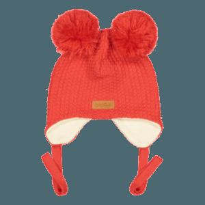 Baby Wintermütze, Farbe rot, Marke Gugguu, nachhaltig hergestellt