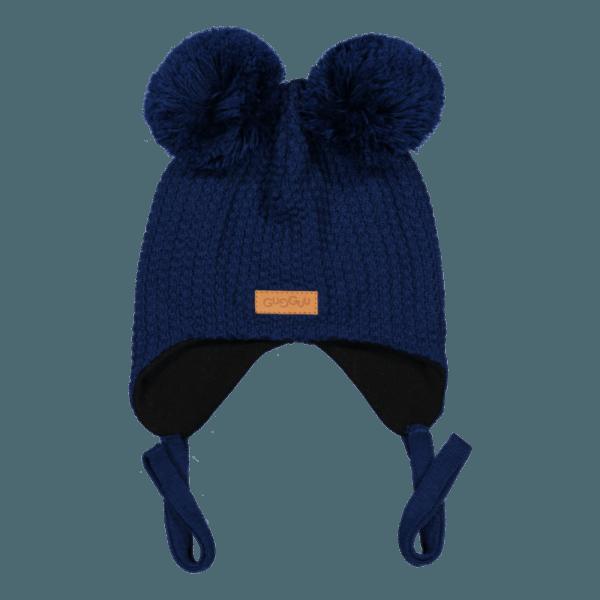 Baby Wintermütze, Farbe dunkelblau, Marke Gugguu, nachhaltig hergestellt