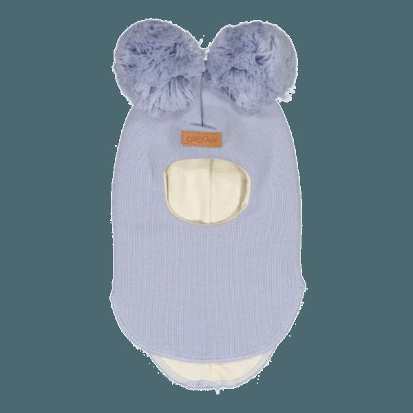 Schlupfmütze für Babys und Kinder, Farbe hellblau, Marke Gugguu, nachhaltig hergestellt