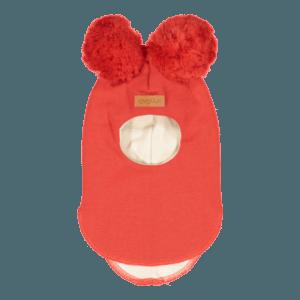 Baby/Kinder Schlupfmütze, Farbe rot, Marke Gugguu, nachhaltig hergestellt
