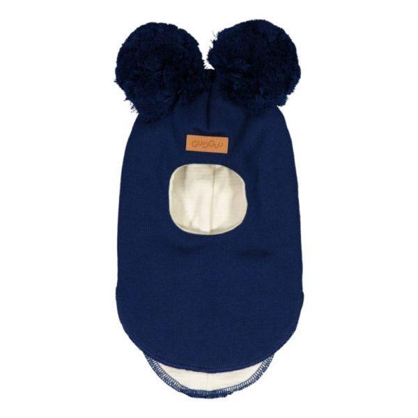 Baby/Kinder Schlupfmütze, Farbe dunkelblau, Marke Gugguu, nachhaltig hergestellt