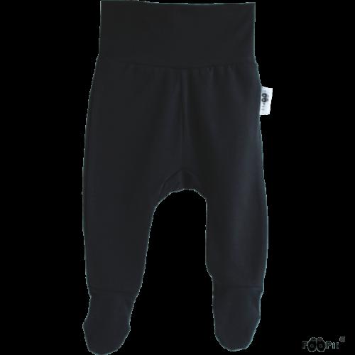 Baby Stramplerhosen, Farbe schwarz, Marke Paapii, Biobaumwolle, nachhaltig hergestellt
