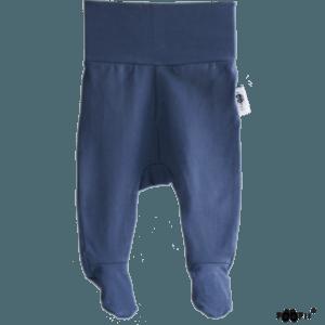 Baby Stramplerhosen blueberry, Farbe blau, Marke Paapii, Biobaumwolle, nachhaltig hergestellt