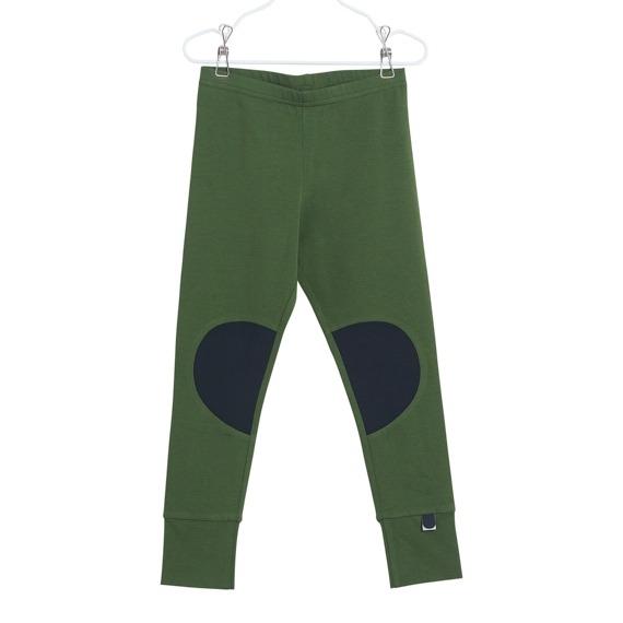Leggings Patch für Kinder, Farbe Grün, Marke Papu, Biobaumwolle, nachhaltig hergestellt