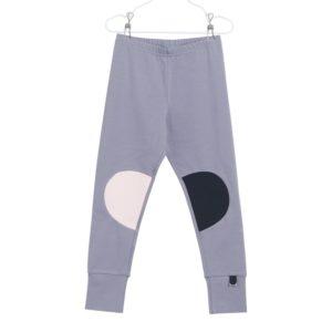 Patch Leggings für Kinder Mix Patch, Farbe Grau, Marke Papu, Biobaumwolle, nachhaltig hergestellt