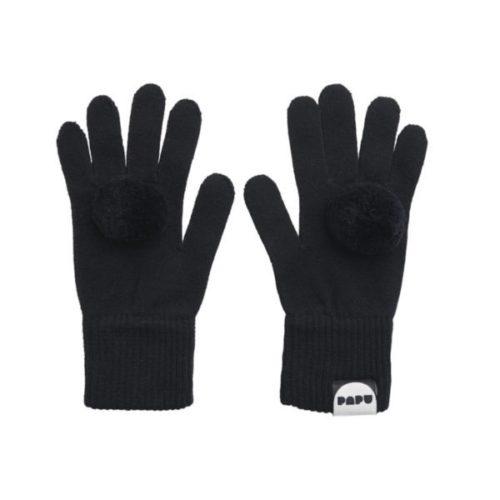 Handschuhe Pom Pom, Black