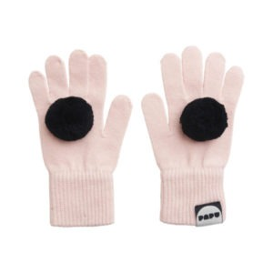 Handschuhe Pom Pom, Heather Pink