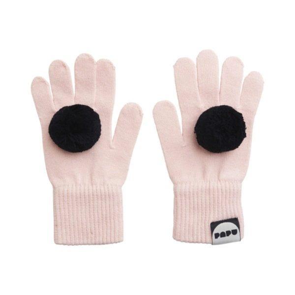 Handschuhe Pom Pom, Heather Pink