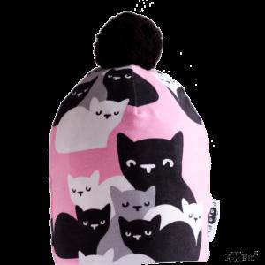Kinder Mütze PomPom Kittens, Marke Paapii, Biobaumwolle, nachhaltig hergestellt