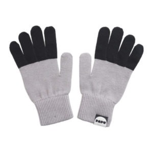 Handschuhe Split, Stone Grey & Black