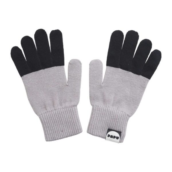 Handschuhe Split, Stone Grey & Black
