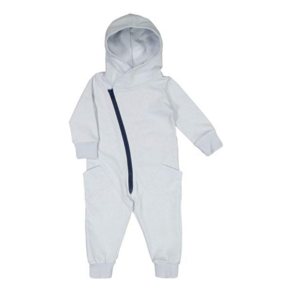 Baby/Kinder Jumpsuit, Farbe hellblau, Marke Gugguu, nachhaltig hergestellt