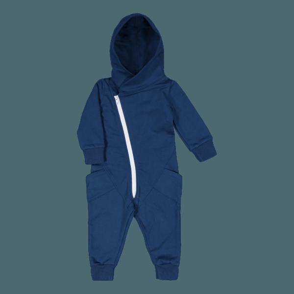 Baby/Kinder Jumpsuit, Farbe dunkelblau, Marke Gugguu, nachhaltig hergestellt