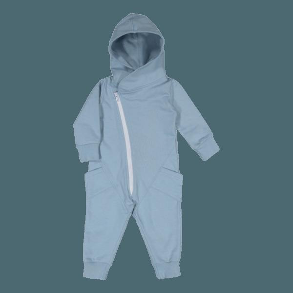Baby/Kinder Jumpsuit, Farbe blau, Marke Gugguu, nachhaltig hergestellt