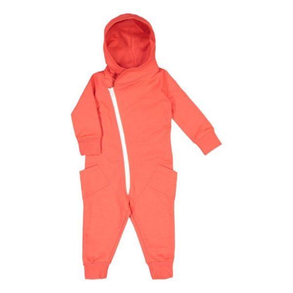 Baby/Kinder Jumpsuit, Farbe rot, Marke Gugguu, nachhaltig hergestellt