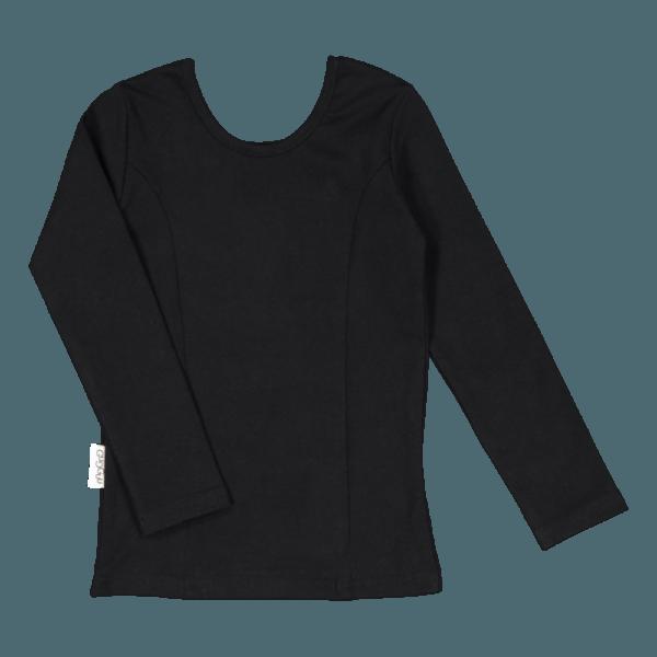 Kinder Langarmshirt Ballerina, Farbe schwarz, Marke Gugguu, nachhaltig hergestellt