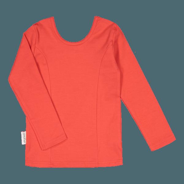 Kinder Langarmshirt Ballerina, Farbe rot, Marke Gugguu, nachhaltig hergestellt
