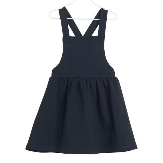 Kleid Dungas für Mädchen, Farbe Schwarz, Marke Papu, Biobaumwolle, nachhaltig hergestellt