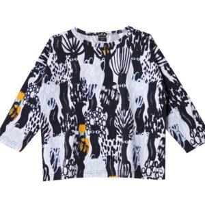 ein oversize Shirt Dark Forest für Kinder, Marke Aarrekid, nachhaltig hergestellt