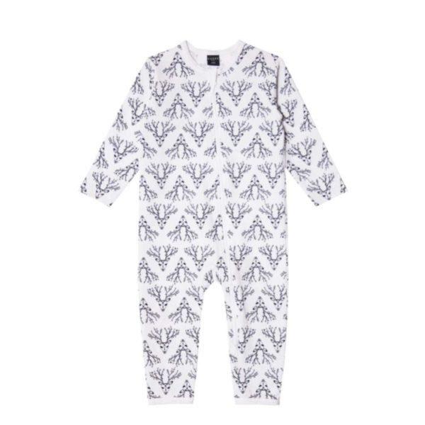 Baby Overall Dear Deer, Reh Muster, Marke Aarrekid, Biobaumwolle, nachhaltig hergestellt