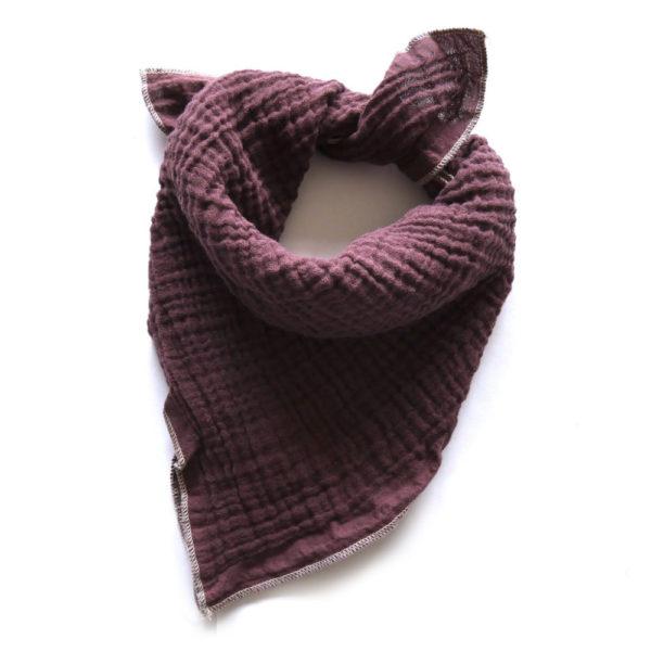 Qualitäts Nuscheli Boysenberry für Babys, Farbe Violett, Marke Hauptlihaus, Biobaumwolle, nachhaltig hergestellt