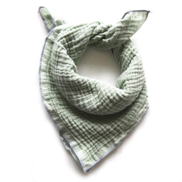 Qualitäts Nuscheli Sage für Babys, Farbe Hellgrün, Marke Hauptlihaus, Biobaumwolle, nachhaltig hergestellt
