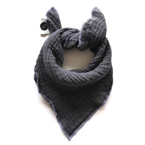 Qualitäts Nuscheli Charcoal für Babys, Farbe Grau, Marke Hauptlihaus, Biobaumwolle, nachhaltig hergestellt