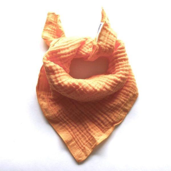 Qualitäts Nuscheli Marigold für Babys, Farbe Orange, Marke Hauptlihaus, Biobaumwolle, nachhaltig hergestellt