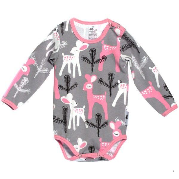 Bambi Body für Babys von Paapii, Grau, Biobaumwolle