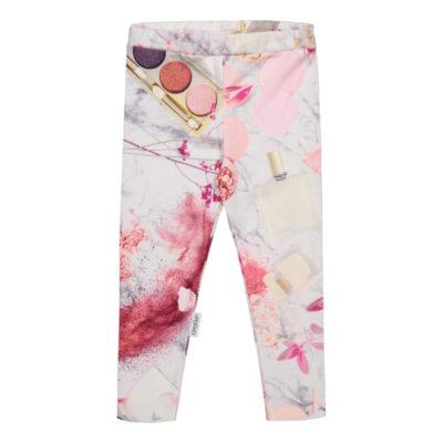 Diese Leggings sind perfekt für Kinder, die Blumen und Pastellfarben mögen!Sehr weiche Leggings mit guter Passform. Mit einem elastischen, grössenregulierbaren Bund.