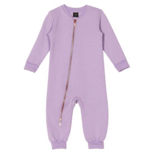 Baby Overall Arron, Moss Jacquard Lavender von aarrekid